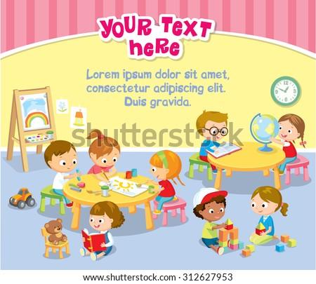 children\'s activity in the kinder garden
