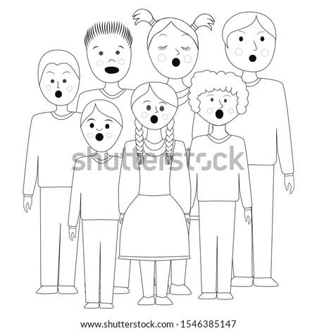 children's choir  lesson of