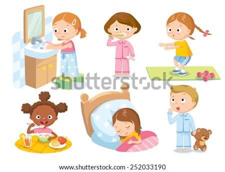 children's daily routine