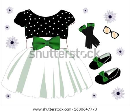 children's dress is beautiful
