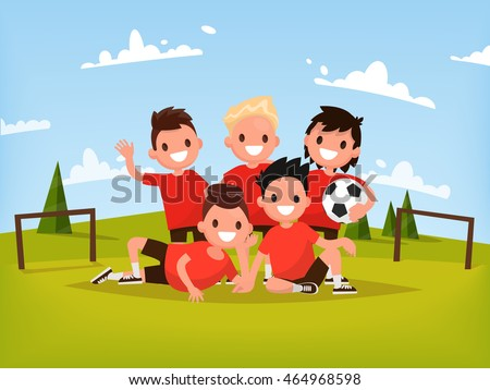 children's football team boys