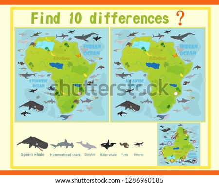 Game template with sea animals - Download Free Vector Art, Stock