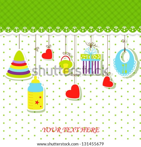 Children's Greeting Card. Vector illustration.