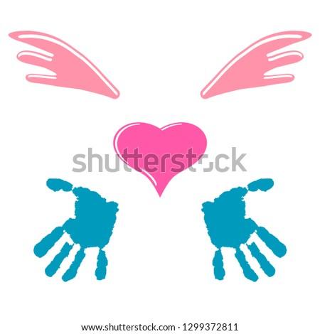 children's hands  heart and