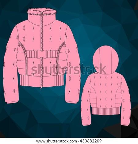 children's hooded jacket front