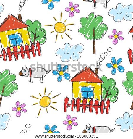 children's painting  background
