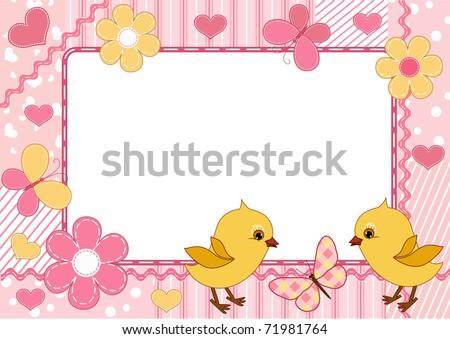 children's photo frame vector