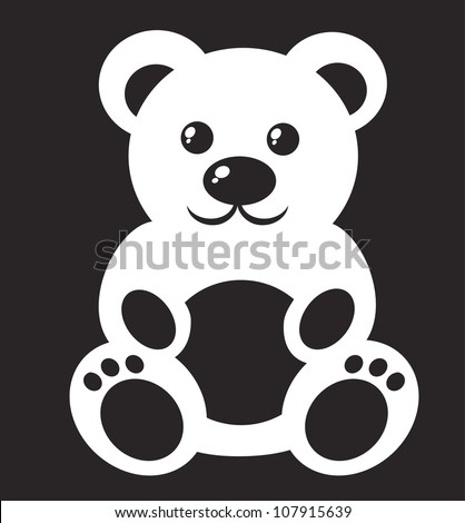 Children's picture -  teddy bear