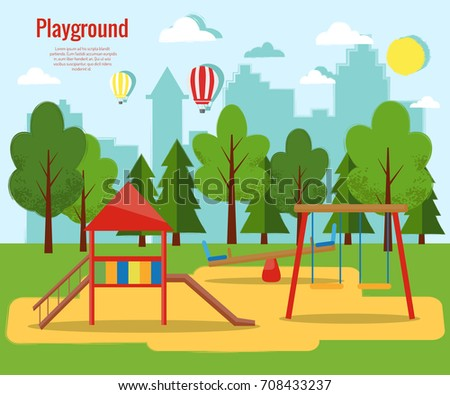 children's playground vector