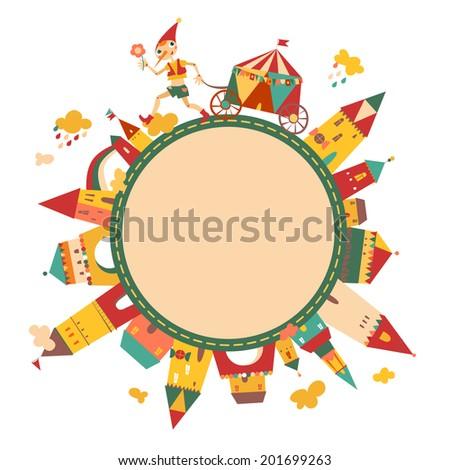 children's round frame with