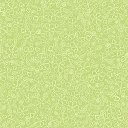Children's seamless background flower is green