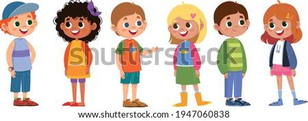 children schoolchildren vector