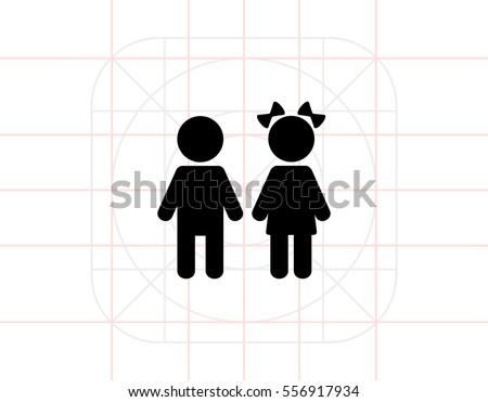 Children simple icon