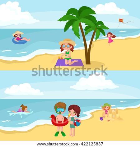 children summer vacation in