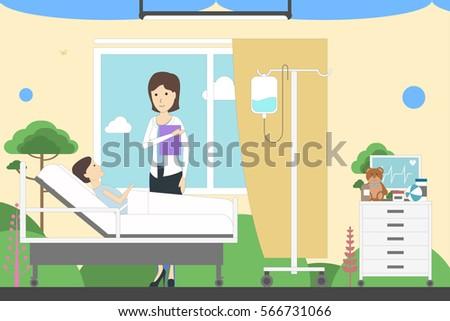 children ward in hospital....