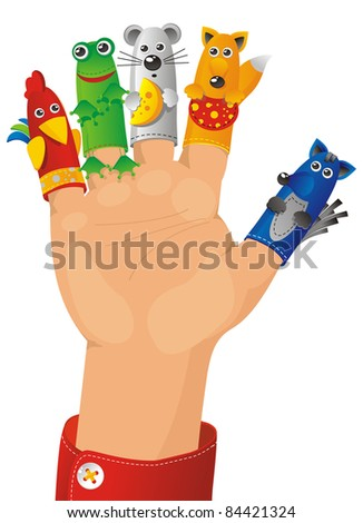 children wearing a hand with