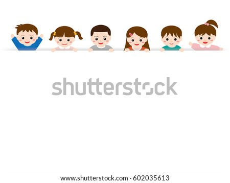Children with copy space.