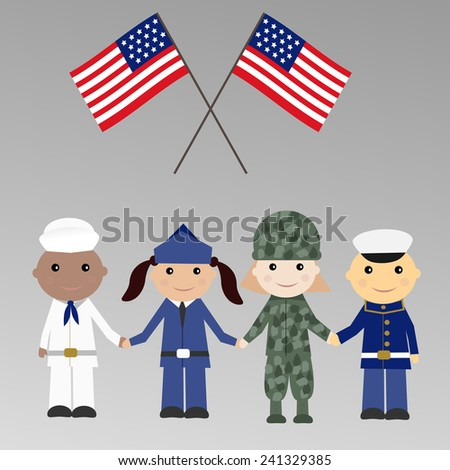 children with usa military