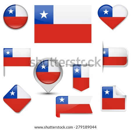 Chile Flag Collection #279189044