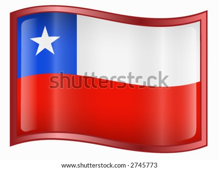 stock vector : Chile Flag Icon