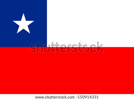 Chile Flag. Official colors and proportion correctly. National Chile flag. Chile Flag vector illustration. Chile Flag vector background.