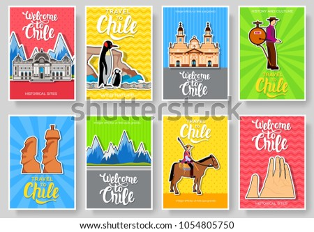 chile vector brochure cards
