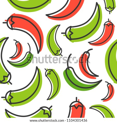 Chill outline seamless pattern and shadow for use as wallpaper