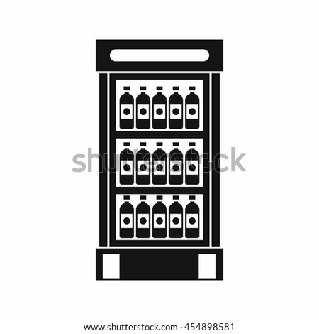 Chiller or fridge icon simple. illustration of fridge or chiller icon vector for web. Supermarket cooler