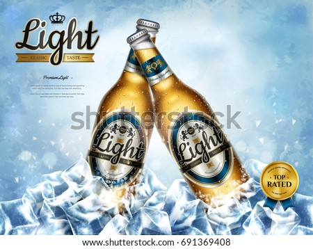 chilling light beer ads ...