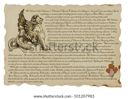 Chimera Greek Mythology Drawing Clever Pictures by Greek