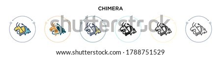 chimera icon in filled  thin