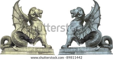 chimera statues