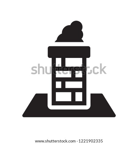 Chimney icon. Trendy Chimney logo concept on white background from Industry collection. Suitable for use on web apps, mobile apps and print media.