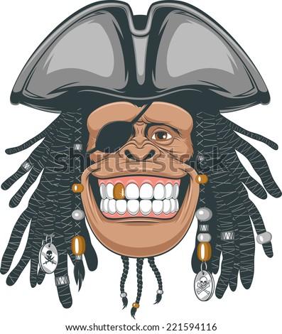 chimpanzees pirate