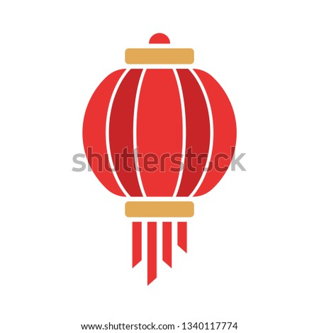China Chinese New Year Lunar Icon Lampion Lantern