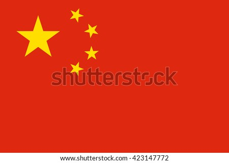 china flag  official colors and