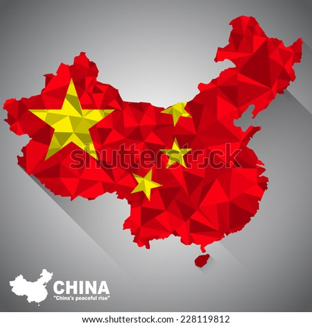 china flag overlay on the china