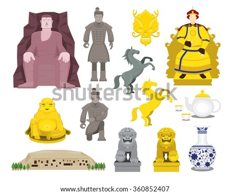 china history objects set