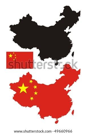 China map flag design