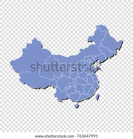 china maphigh detailed blue