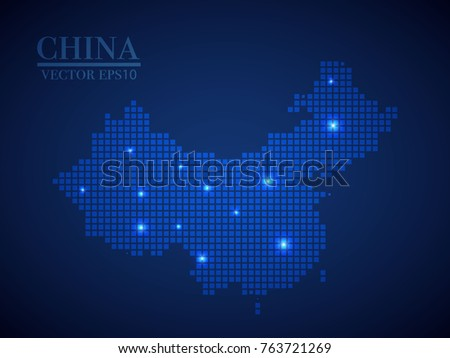 China map page symbol for your web site design China map logo, app, UI. Wire frame 3D mesh polygonal network line, design sphere, dot and structure. China map.vector illustration eps 10.
