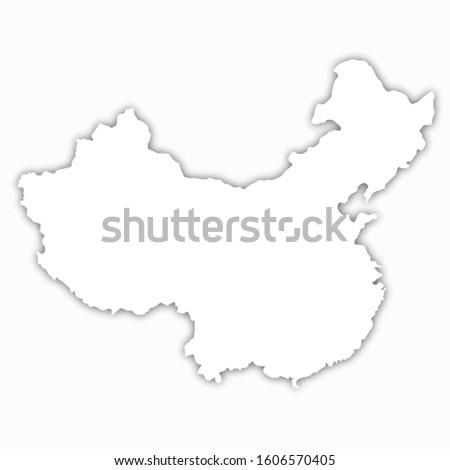 china map white background