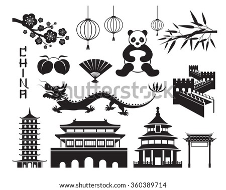 china mono objects set  travel