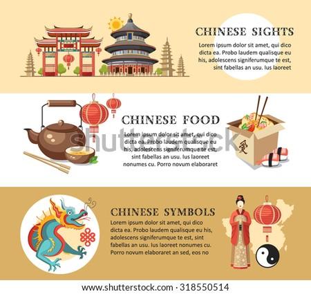 china panorama scenery banners