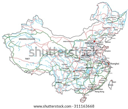 china road and highway map
