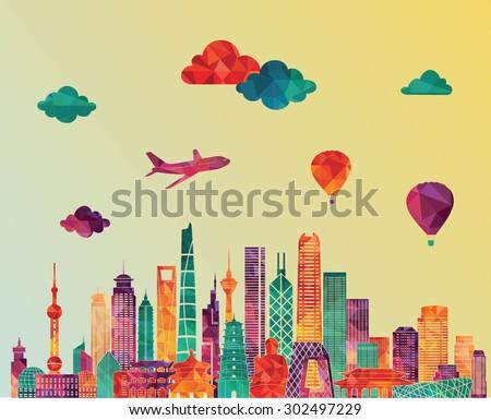 china skyline detailed