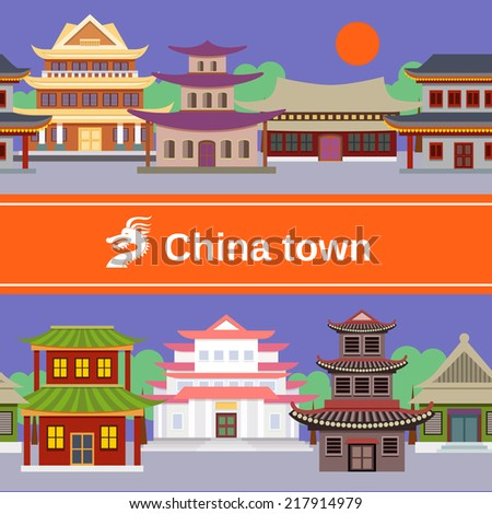 china town with traditional