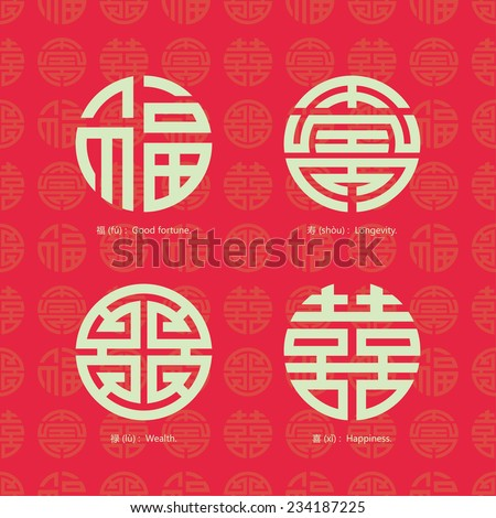 china traditional auspicious