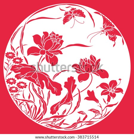 china traditional lotus pattern