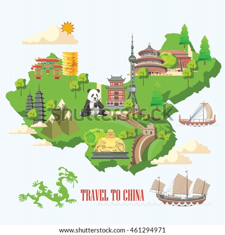 china travel vector